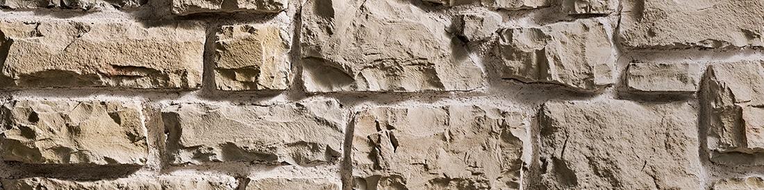 Pierres reconstituées beige avec joints