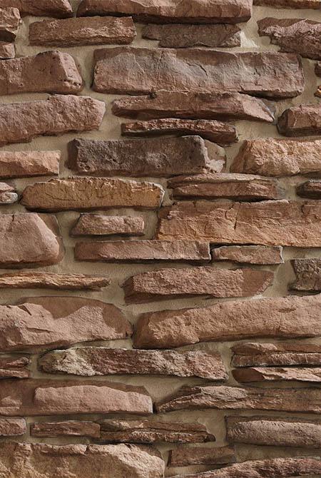 Pan de mur en pierre reconstituée