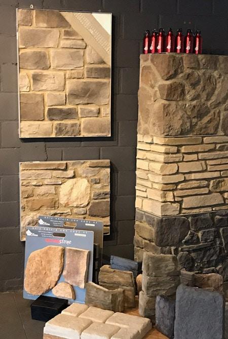 Pant de mur dans le show room Gcr Stone