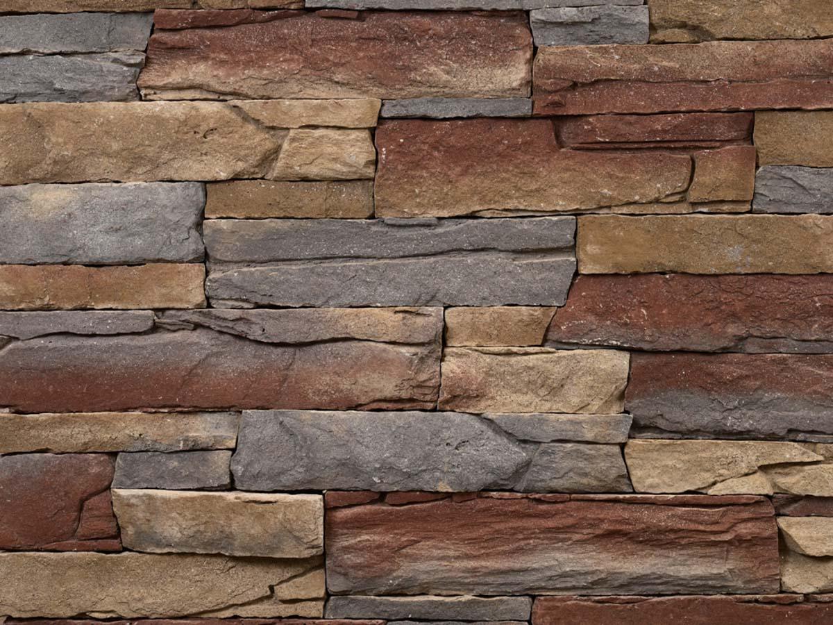 Mur en pierre reconstituée mathios isola