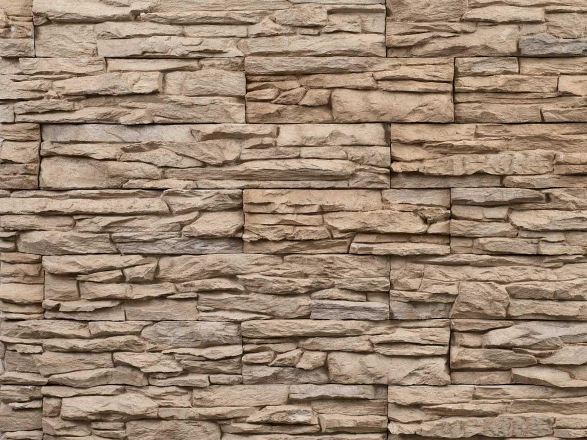 Mur en pierre reconstituée mathios cordillera de couleur sable
