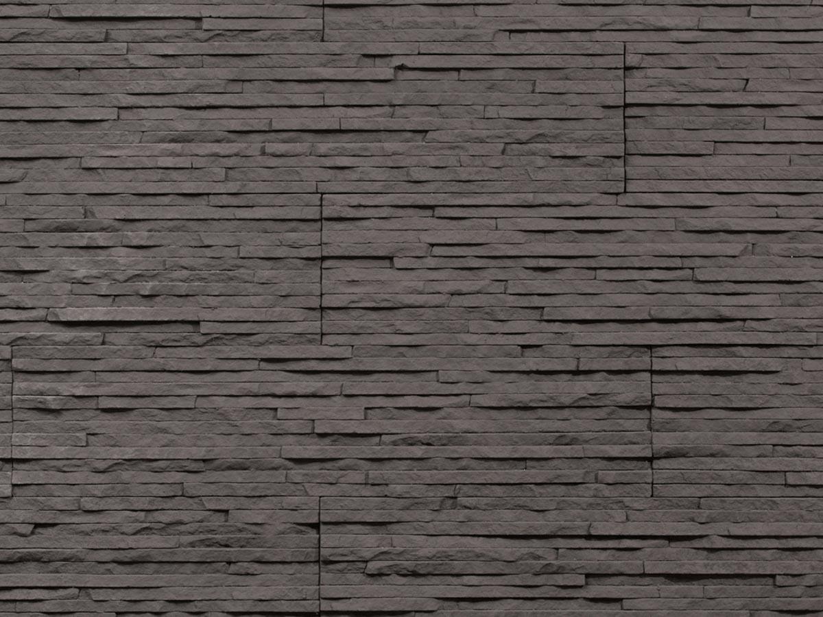 Mur en pierre reconstituée mathios dune de couleur anthracite