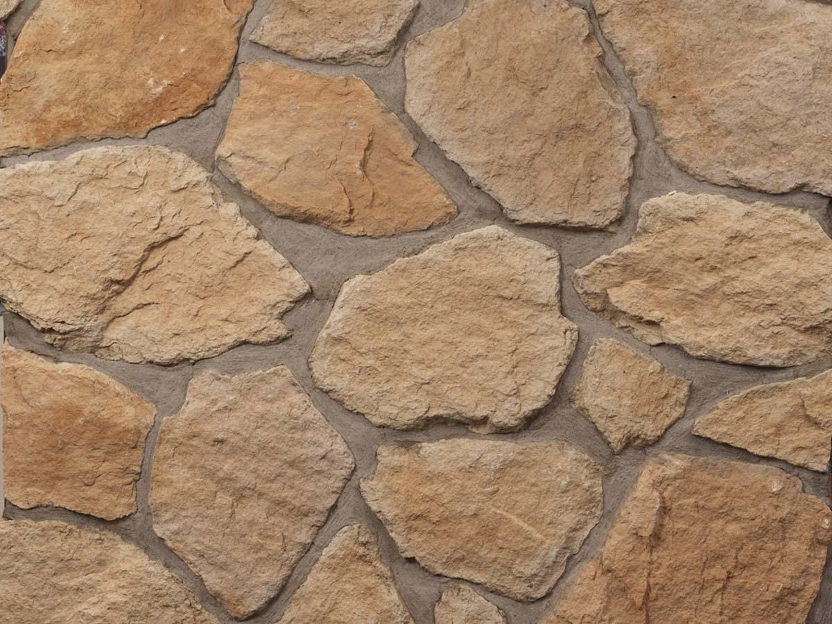 Mur en pierre reconstituée mathios fieldstone