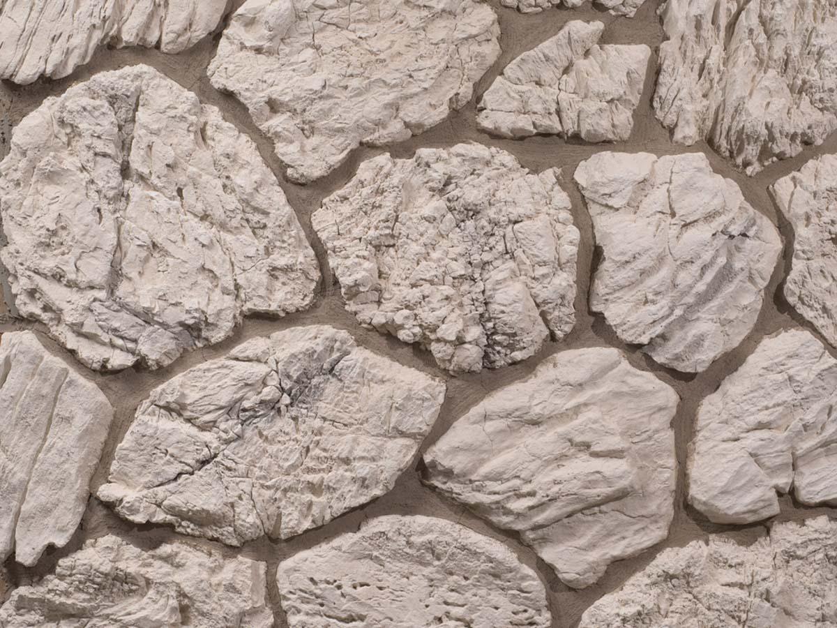 Mur en pierre reconstituée mathios terra de couleur grise