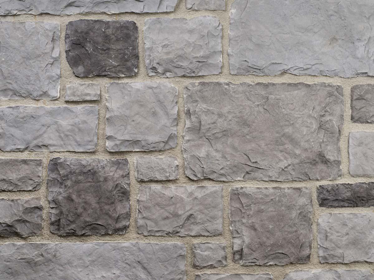 Mur en pierre reconstituée mathios tuscany de couleur grise