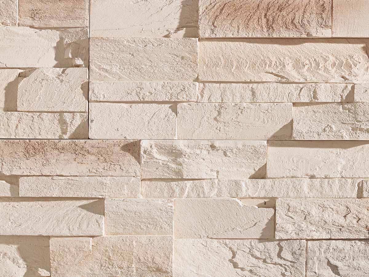 Mur en pierre reconstituée acl caster de couleur clair
