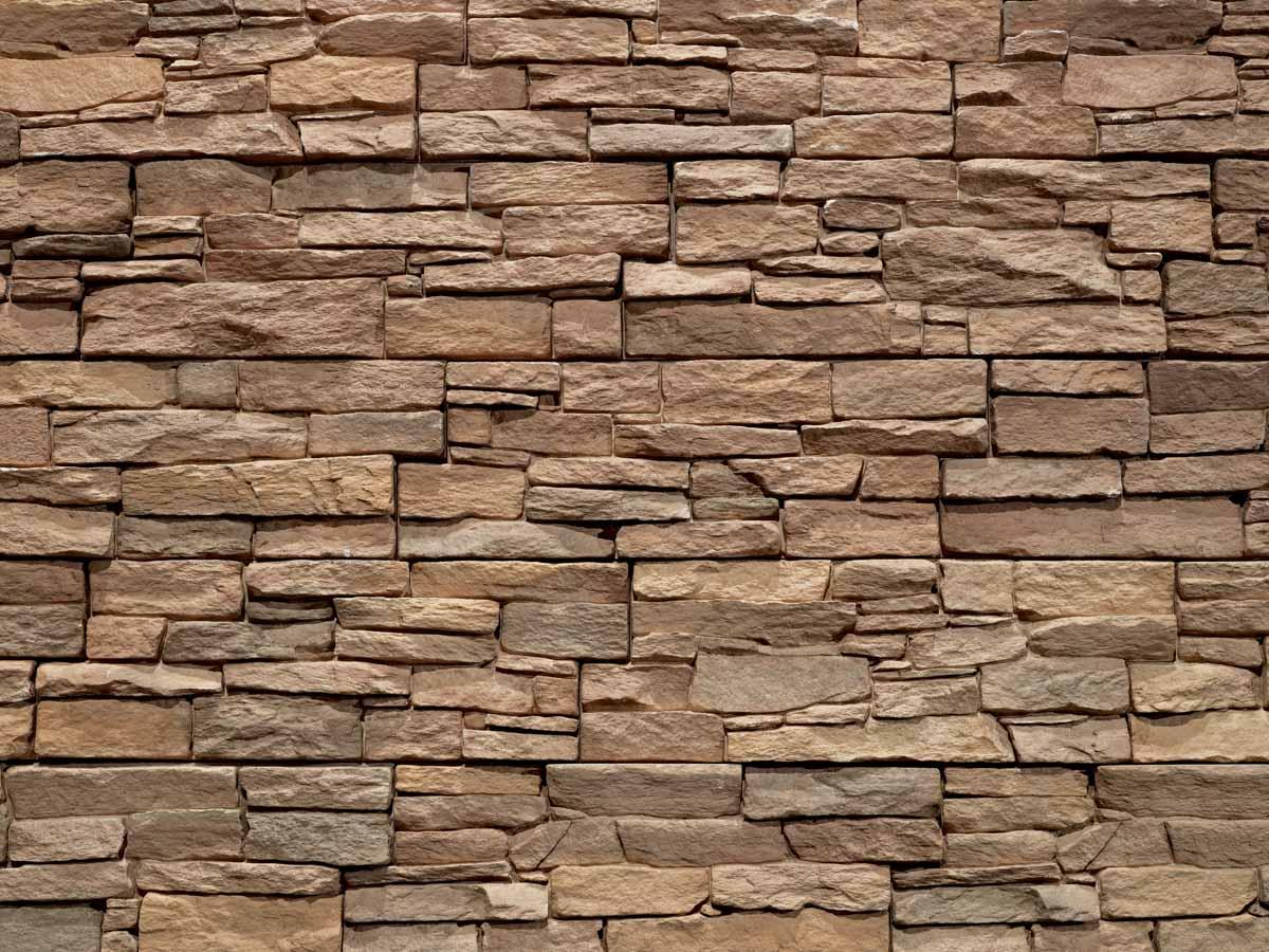 Mur réalisé en pierre reconstituée acl luna de couleur café