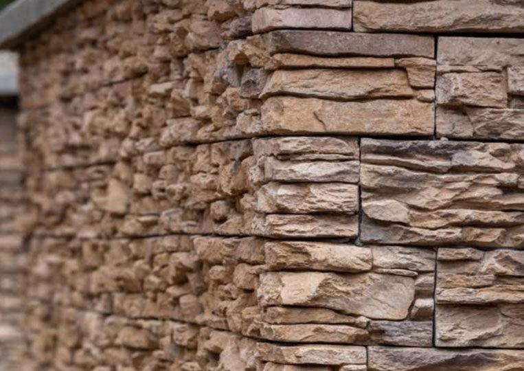 Pant de mur en pierre reconstituée mathios cordillera couleur café