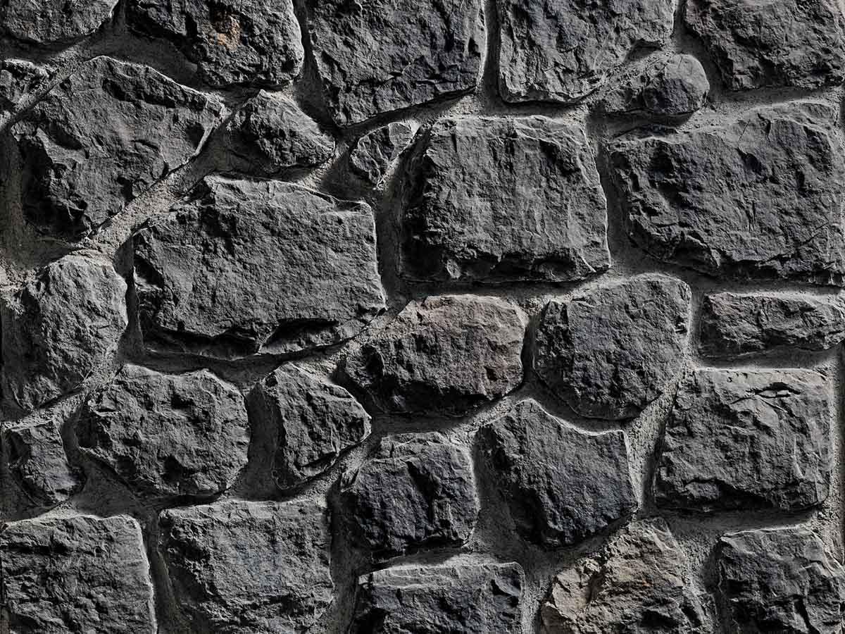 Mur en pierre reconstituée rastone atlas couleur anthracite