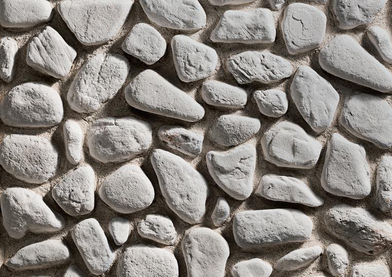 Pierre reconstituée rastone natilus de couleur grise claire