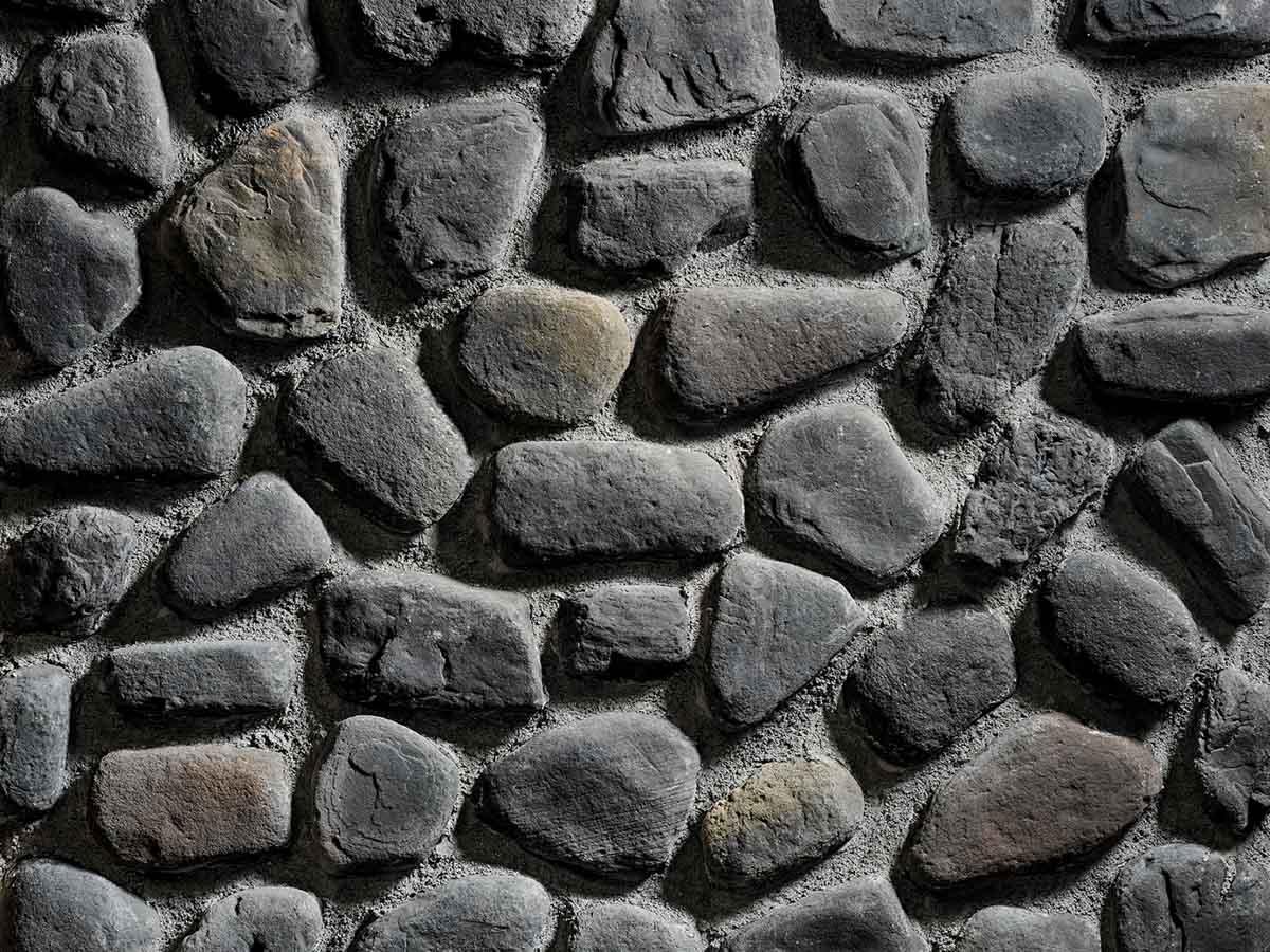 Mur en pierre reconstituée rastone natilus anthracite