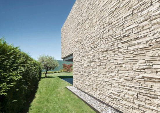 grand mur extérieur en pierre de parement acl siena clair