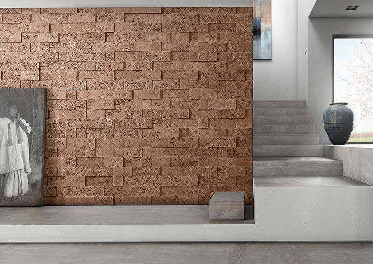 Pant de mur moderne en pierre de parement acl stone cork café