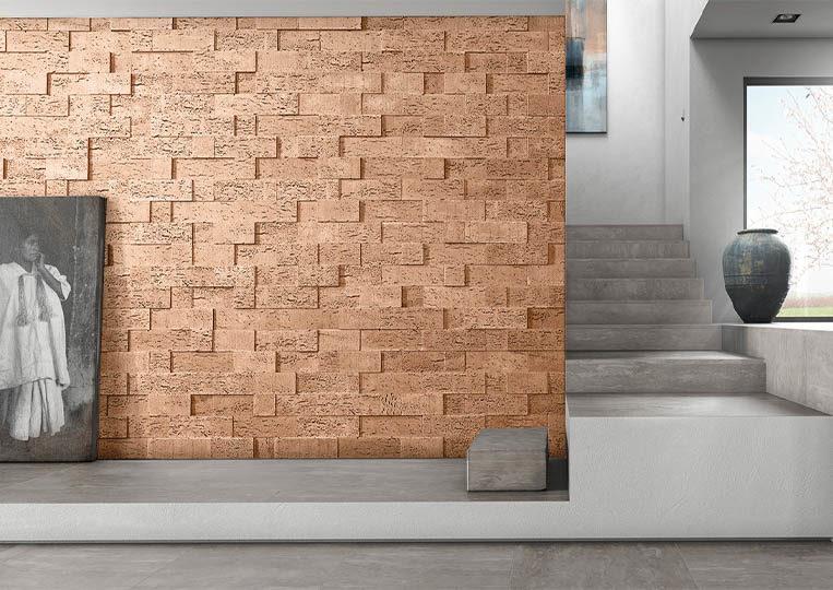 Pant de mur moderne en pierre de parement acl stone cork sable
