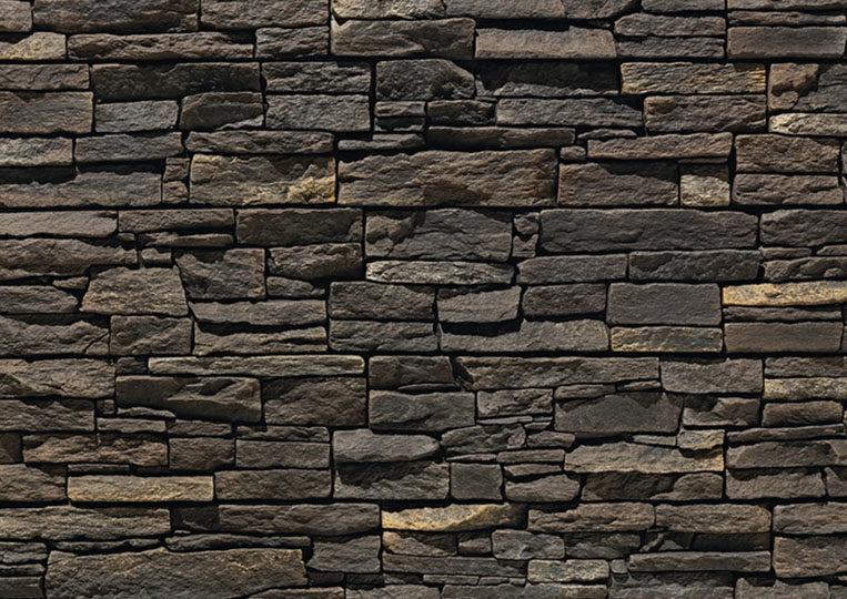 Mur en pierre reconstituée acl luna noir