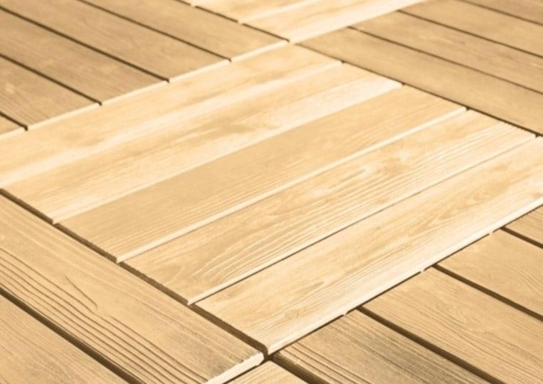 Sol en pierre reconstituée acl madeira deck parquet couleur sable