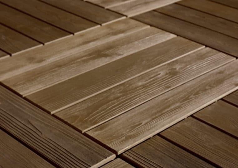 Sol en pierre reconstituée acl madeira deck parquet couleur café