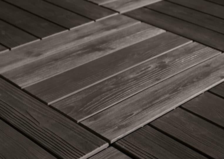 Sol en pierre reconstituée acl madeira deck parquet couleur noir
