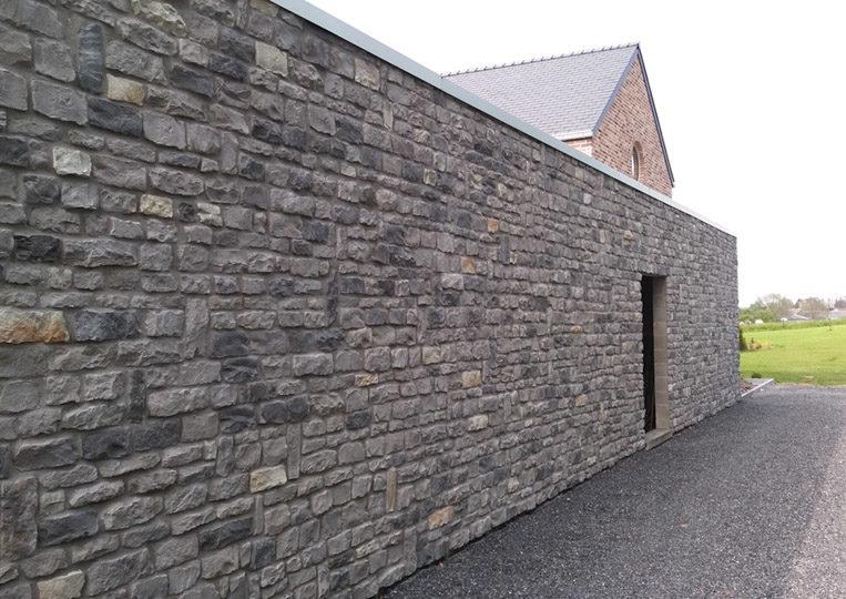 Pant de mur extérieur en pierre reconstituée acl marte gris