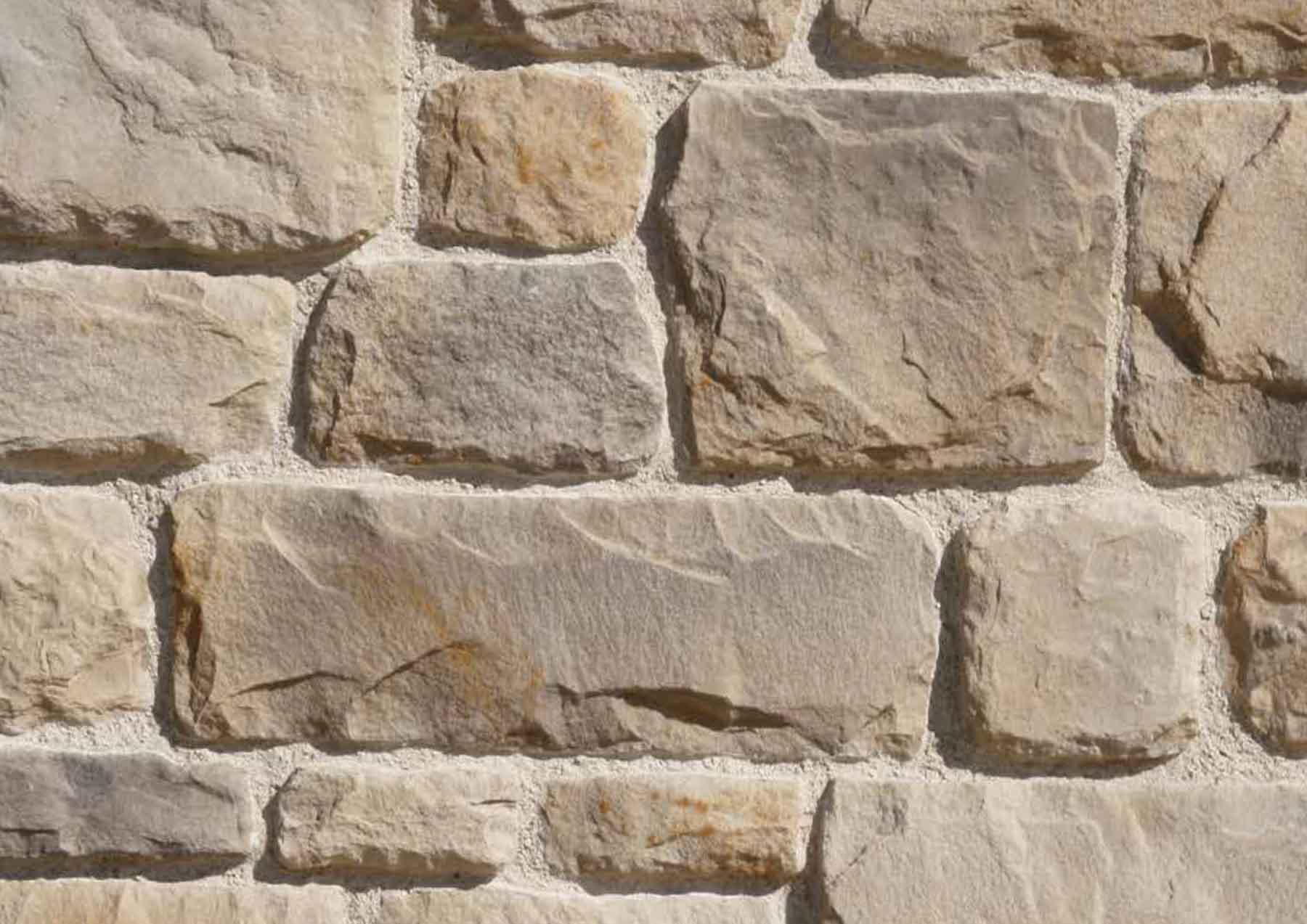 Mur en pierre reconstituée pietre d'arredo granada couleur sable