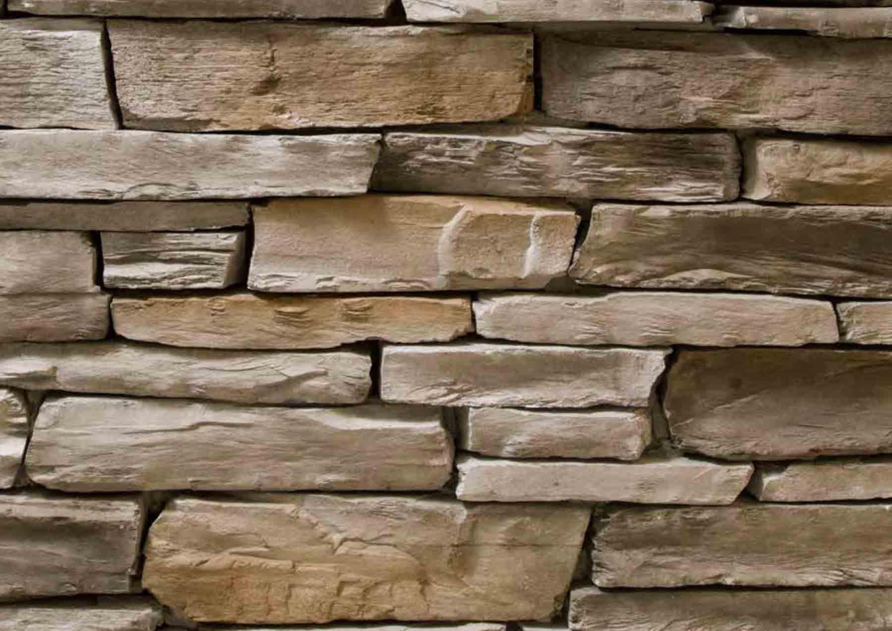 Mur en pierre reconstituée pietre d'arredo olkaria