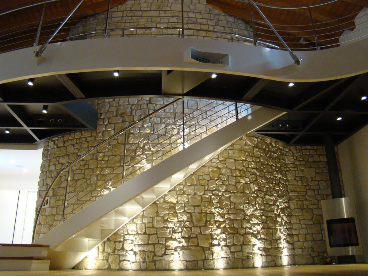 Mur en pierre reconstituée pietre d'arredo santiago