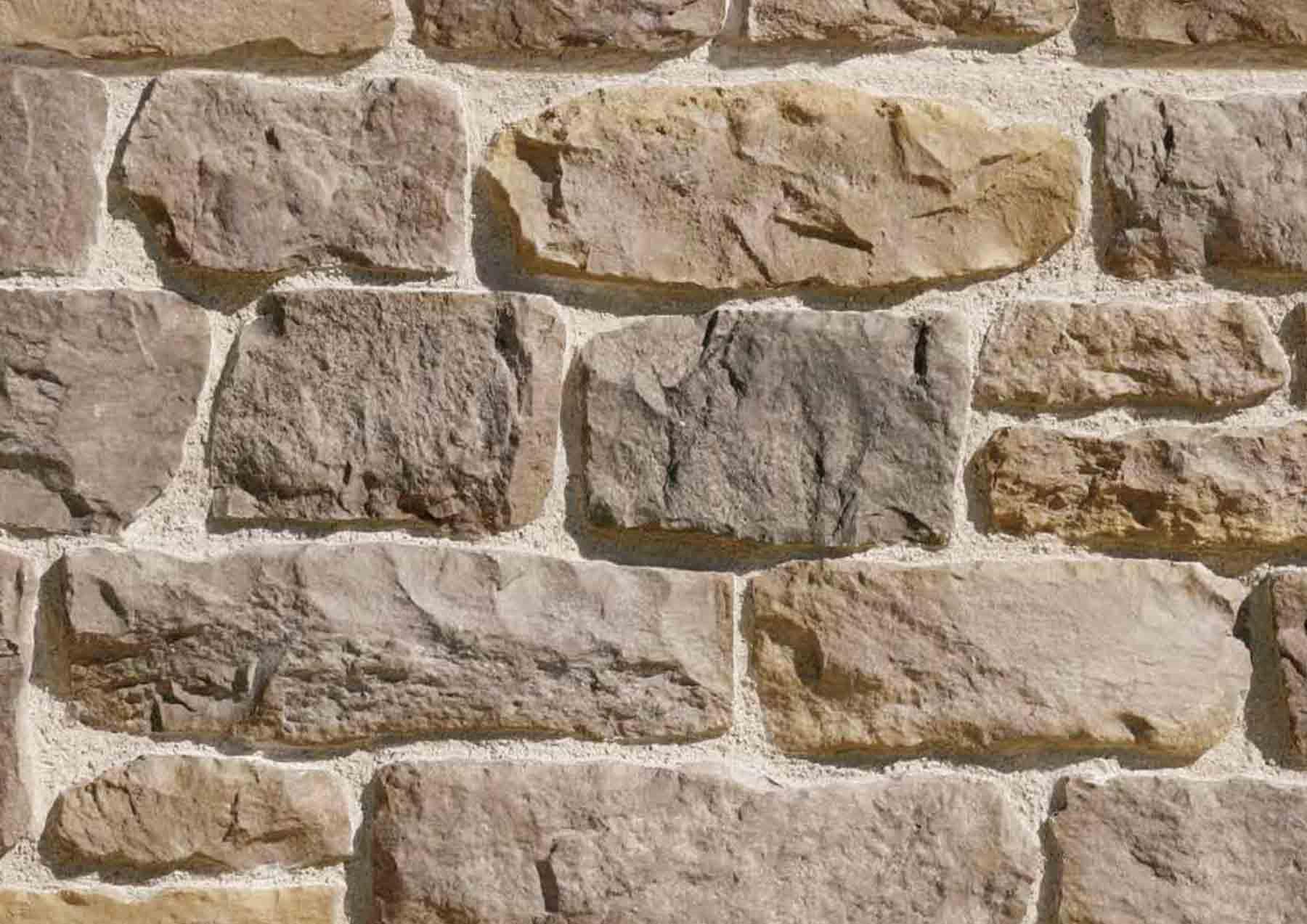 Pant de mur en pierre reconstituée pietre d'arredo Taos