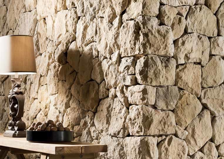 Pant de mur en pierre reconstituée rastone atlas couleur sable