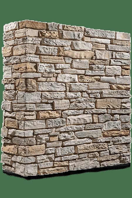 Pant de mur en pierre reconstituée rastone grand canyon