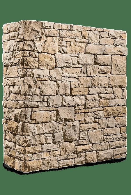 Pant de mur en pierre reconstituée rastone masso sable