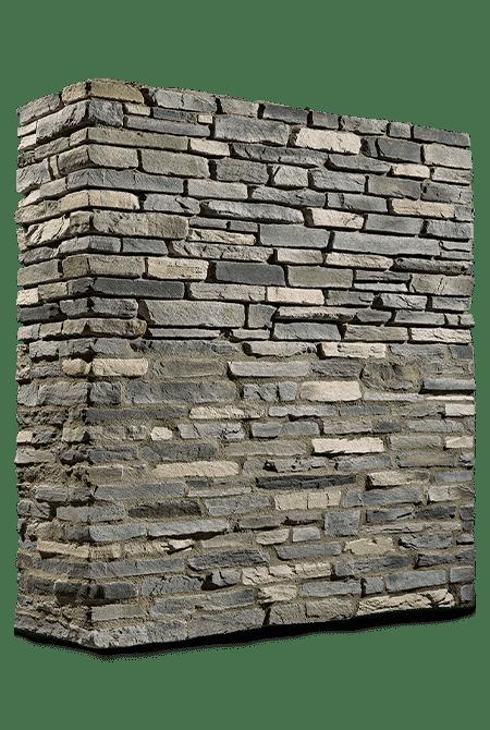 Pant de mur en pierre reconstituée rastone sierra