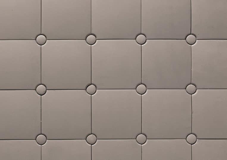 Pierre reconstituée acl capitoné couleur grise
