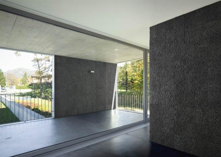 Pant de mur intérieur en pierre reconstituée acl cubus de couleur anthracite