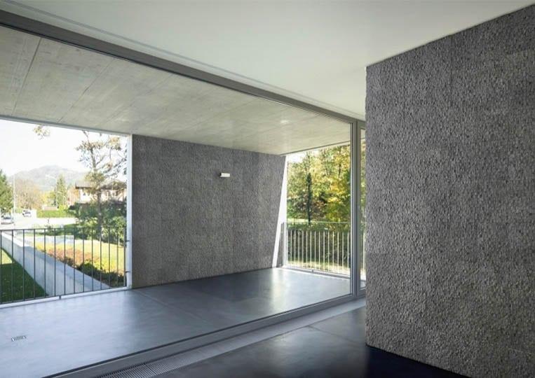 Pant de mur intérieur en pierre reconstituée acl cubus de couleur gris