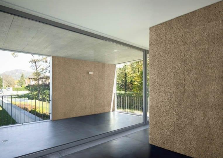 Pant de mur intérieur en pierre reconstituée acl cubus de couleur café