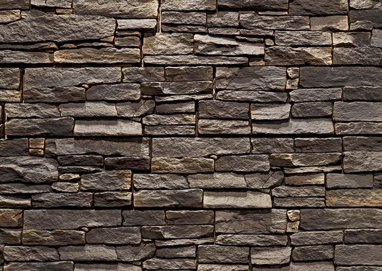 Mur en pierre reconstituée acl luna anthracite
