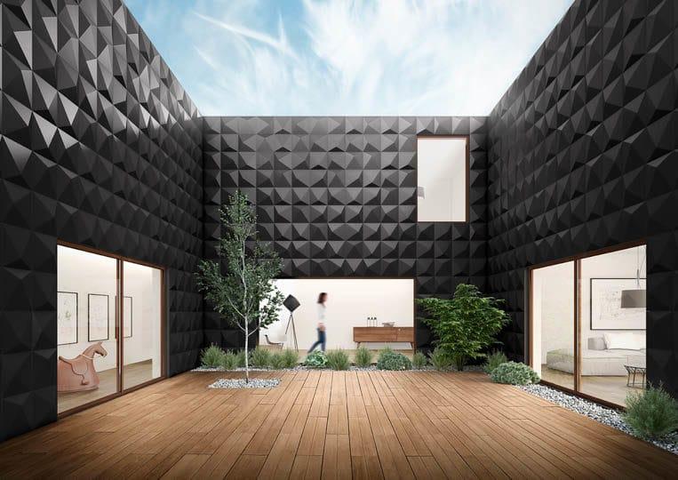 Terasse extérieure avec une imitation parquet café acl madeira deck classic