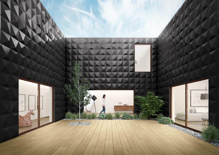 Terasse extérieure avec une imitation parquet sable acl madeira deck classic