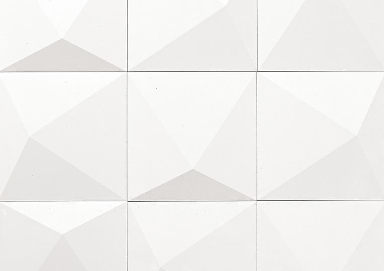Pierre reconstituée acl prisma couleur blanc