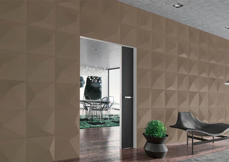 Pant de mur intérieur en pierre reconstituée couleur café acl prisma