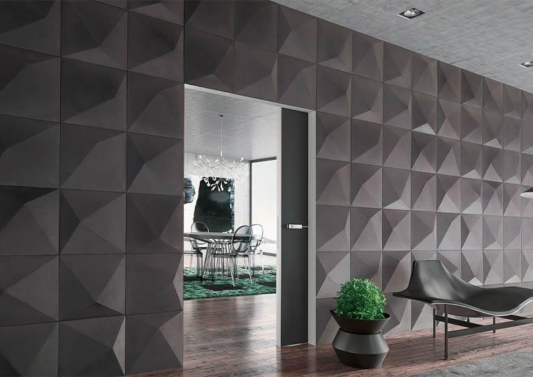 Pant de mur intérieur en pierre reconstituée couleur gris acl prisma