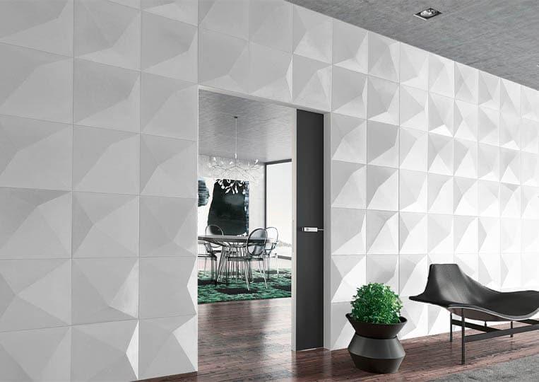 Pant de mur intérieur en pierre reconstituée couleur clair acl prisma