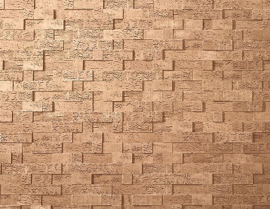 Mur en pierre reconstituée acl stone cork de couleur café
