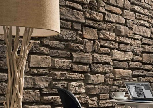 Pan de mur en pierre reconstituée rastone Grand Canyon