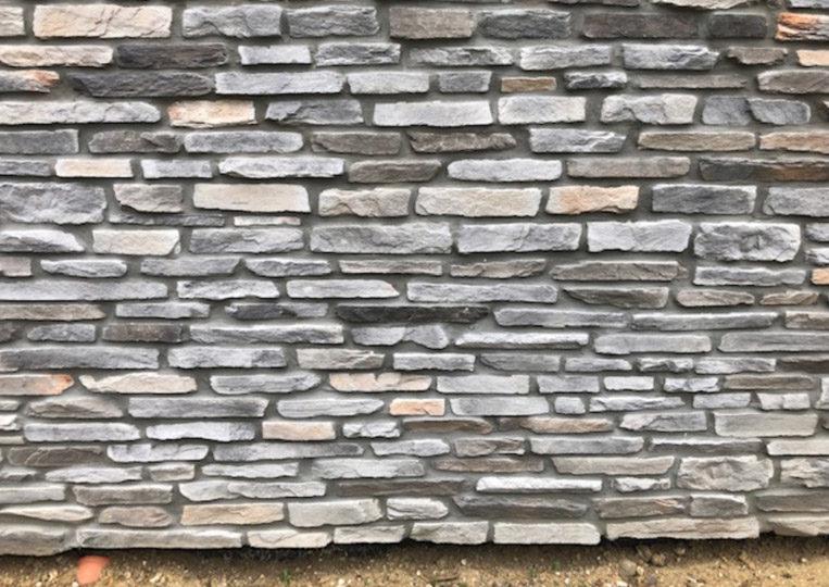 Pant de mur extérieur en pierre reconstituée rastone sierra gris