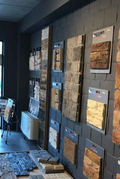 Mur du showroom Gcr Stone