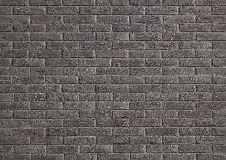 Mur en pierre de parement acl cementbrick couleur anthracite