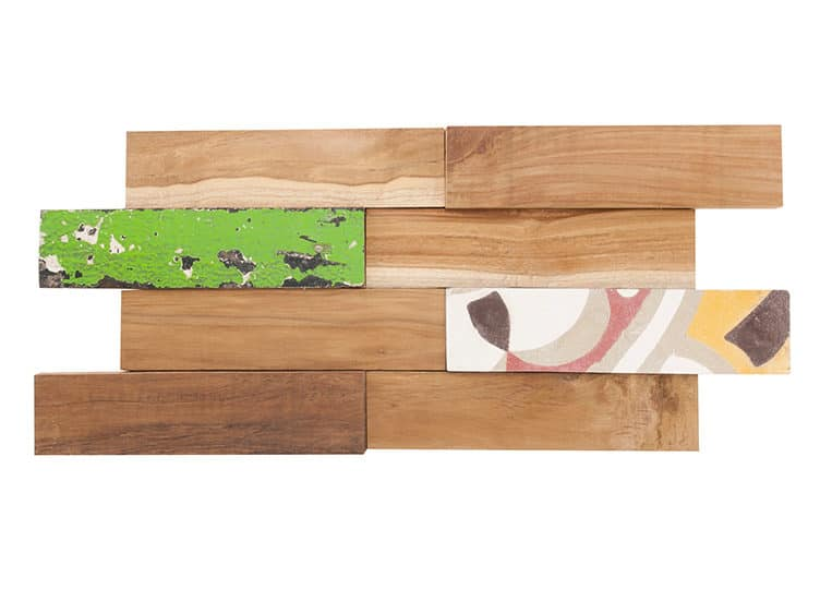 Parement en bois teck recyclé Kohtao