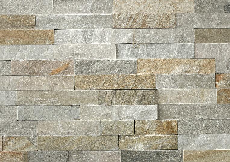 Mur en pierre naturelle Lithos Briconature Beige