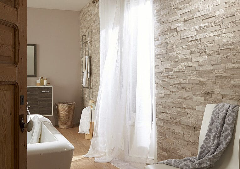 Pan de mur en pierre naturelle Lithos cottage beige